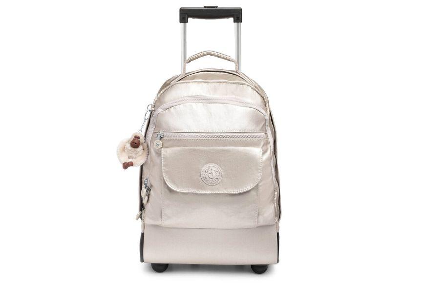 Kipling sanaa metallic rolling backpack (large).