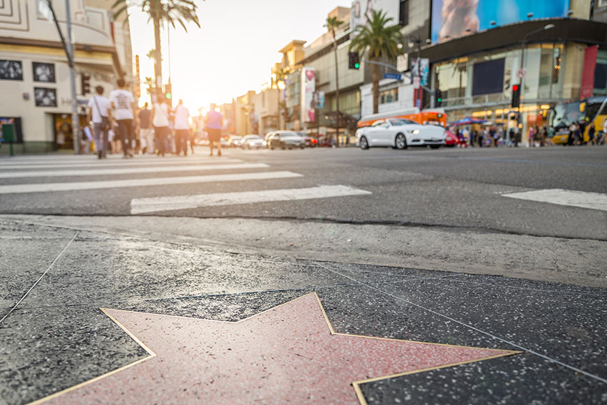 hollywood walk of fame star los angeles.