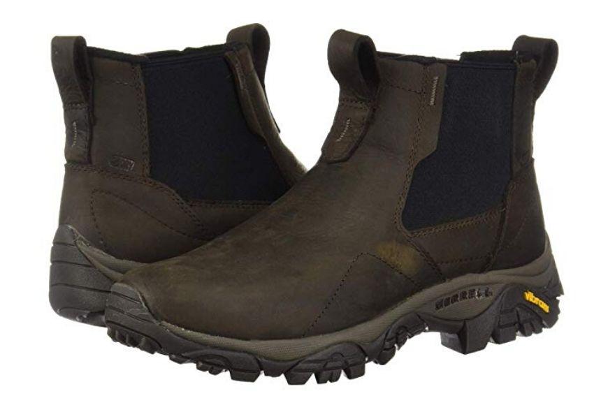 Merrell men's moab adventure chelsea polar waterproof boots.
