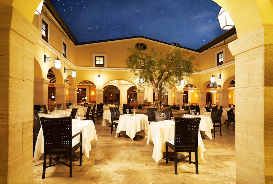outdoor dining at adler spa resort thermae