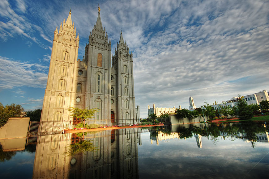 temple square salt lake city.
