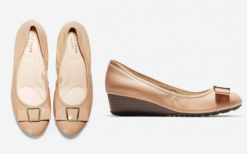 cole haan tan wedge heel