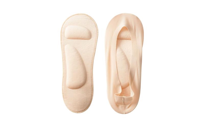 padded socks flat lay