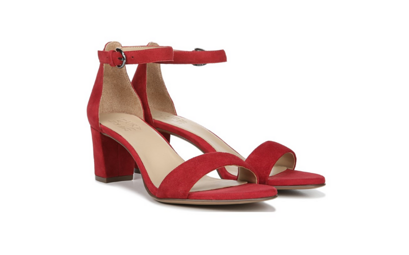 comfortable heel red block