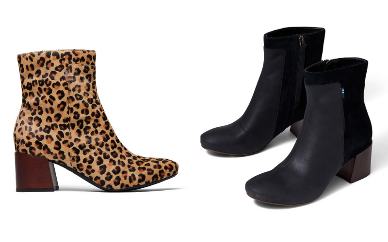 leopard print and black boot