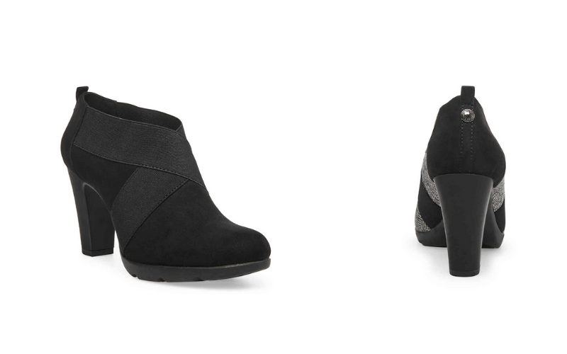 high heel sport booties