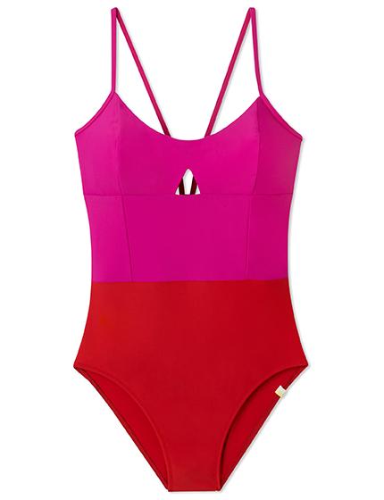 Color block swimsuit by Summersalt