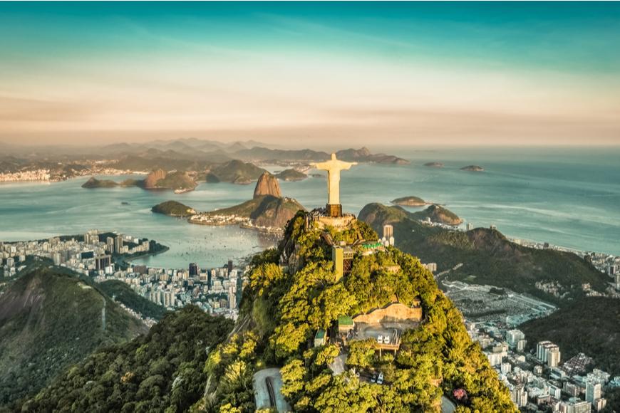 aerial view of rio de janeiro brazil.