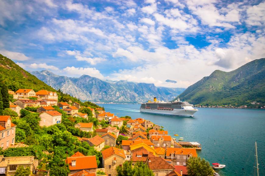 cruise ship in the Mediterranean.