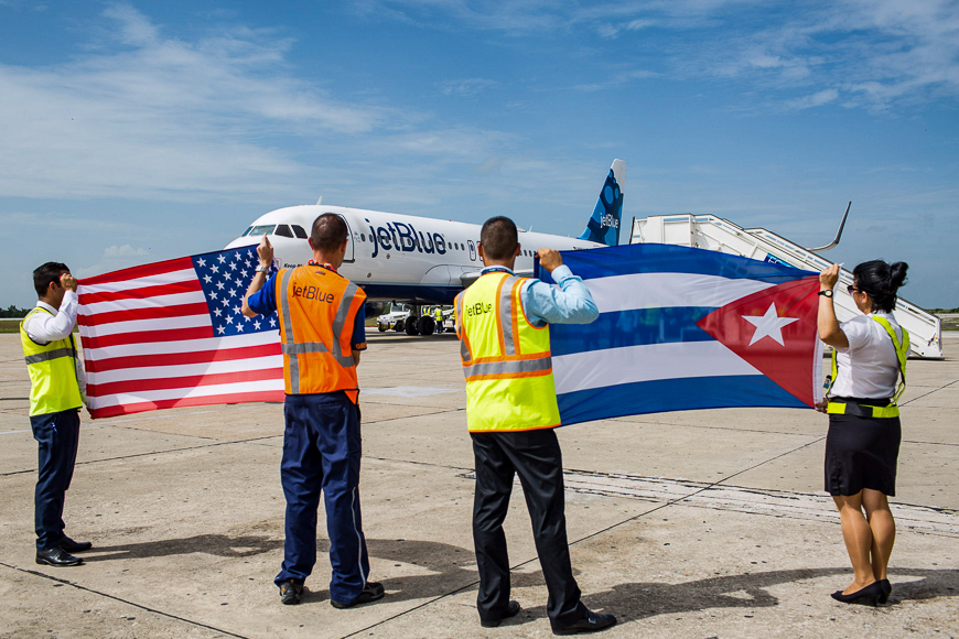 Jetblue inaugural flight to cuba from usa.