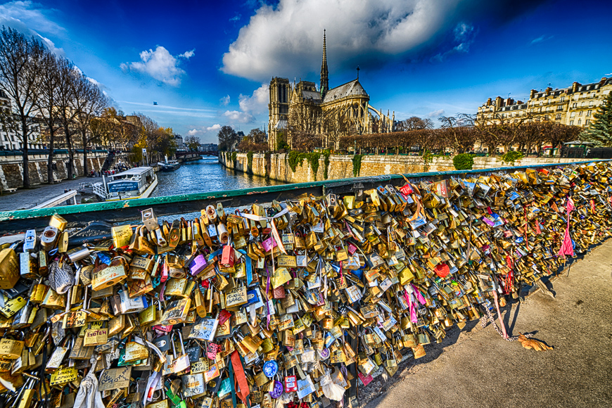 Locks at pont des arts symbolize love for ever, december 1, 2012 in paris.