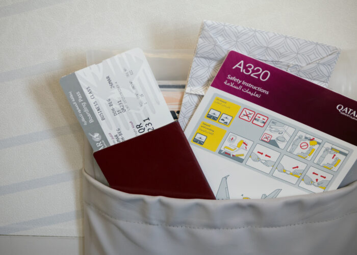 seat back pocket on airplane