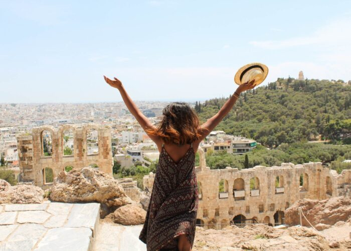 Athens Greece cheapest places to fly spring.