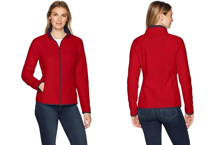 Amazon Essentials Women's Full Zip Polar Fleece.