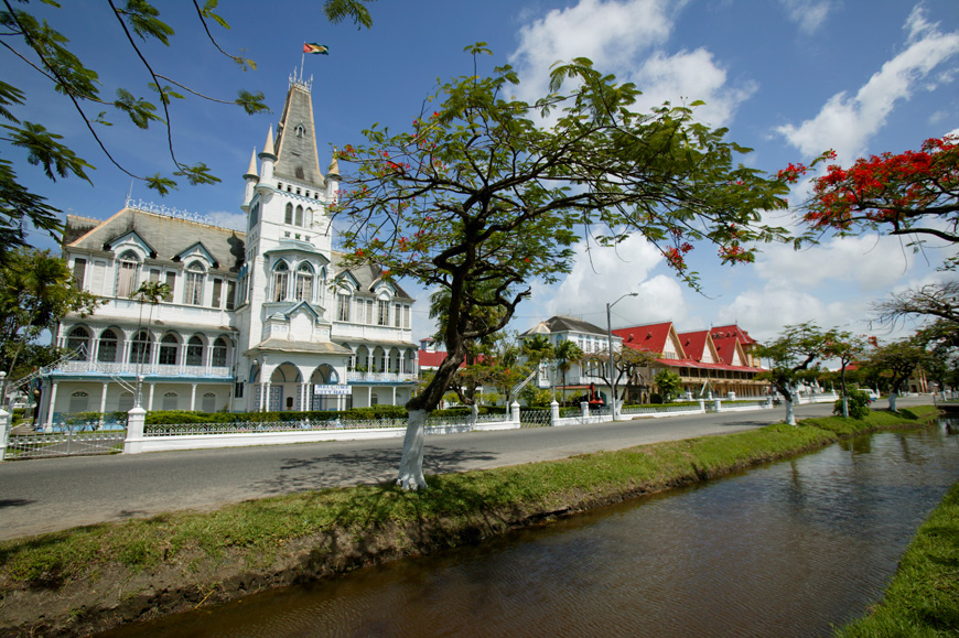 View of City Hall, Georgetown, Guyana