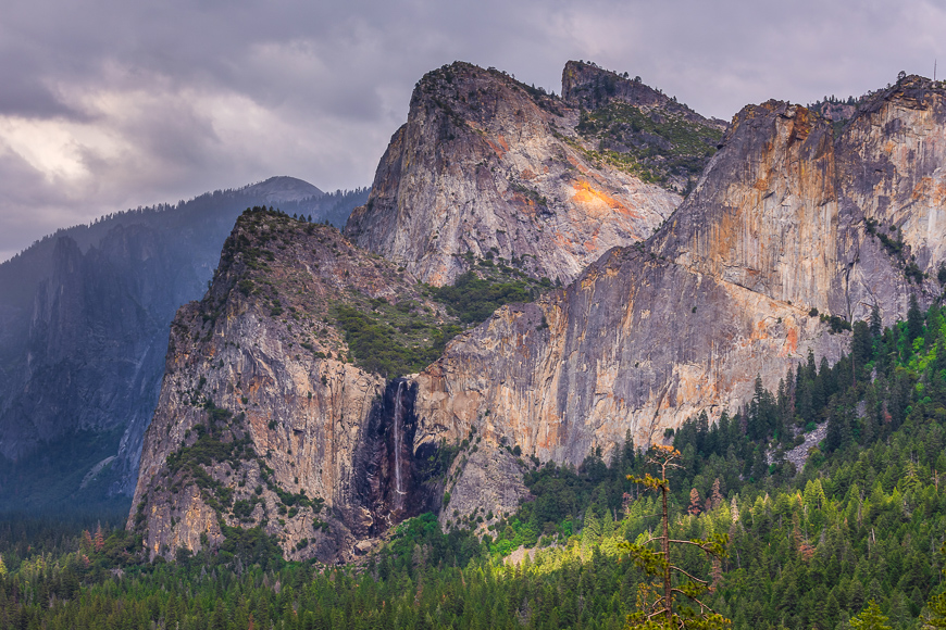 View from Artist Point Trail in Yosemite National Park located in Yosemite Valley, California, USA.