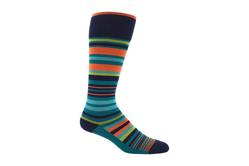 dr segal's striped compression sock.