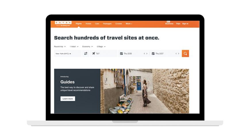 Kayak Hotel Search Engine Screenshot