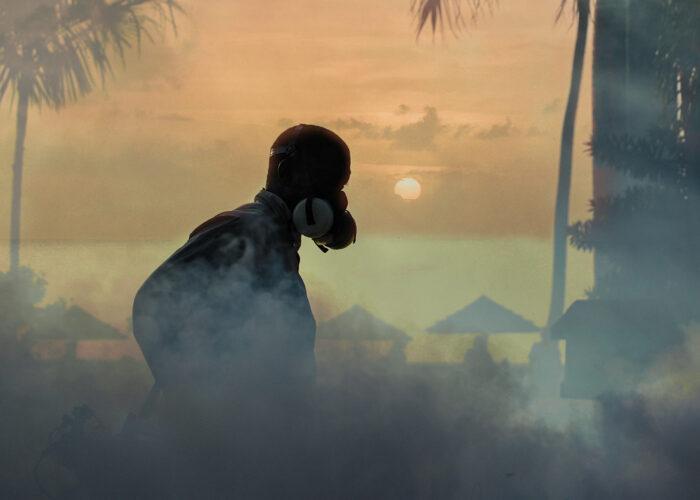 tropical landscape fighting off mosquitos zika virus