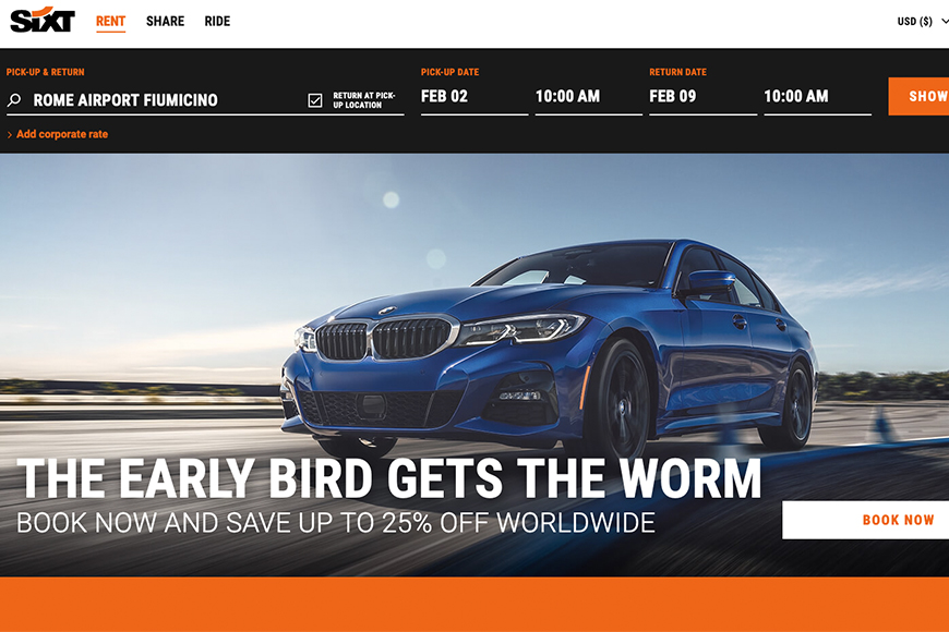 sixt screenshot.