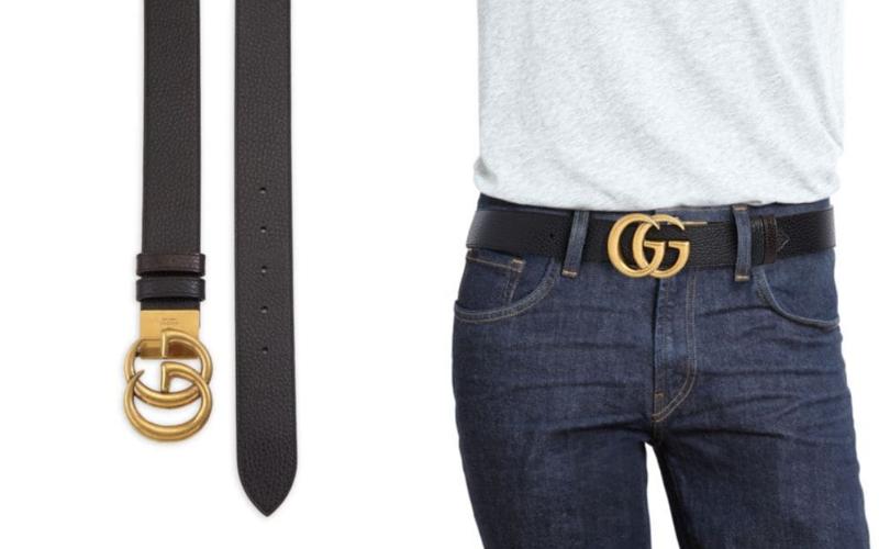 luxury leather reversible belt