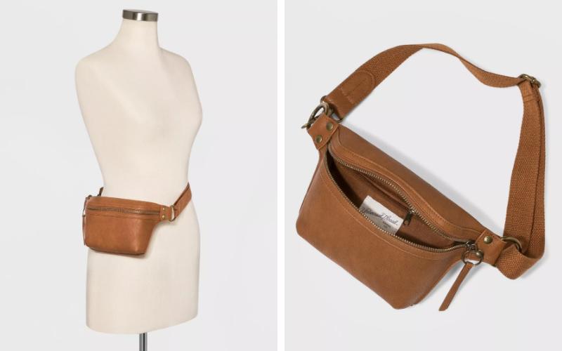 leather fanny pack belt bag