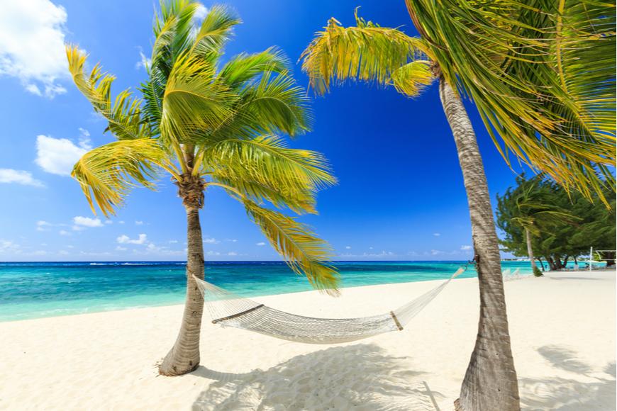 7 mile beach grand cayman caribbean.