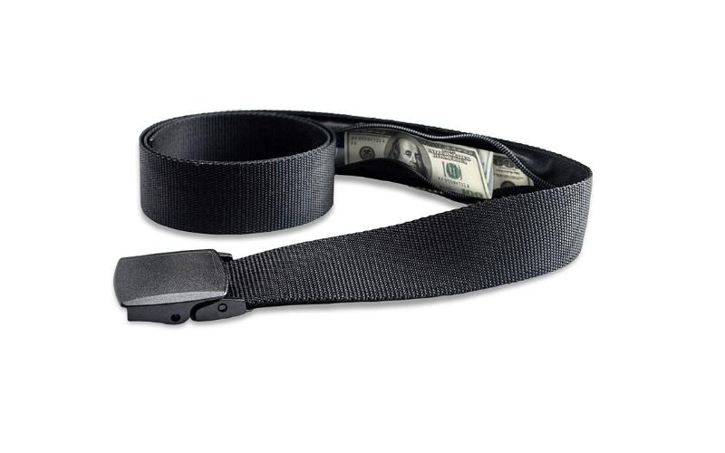 belt with hidden zip pocket