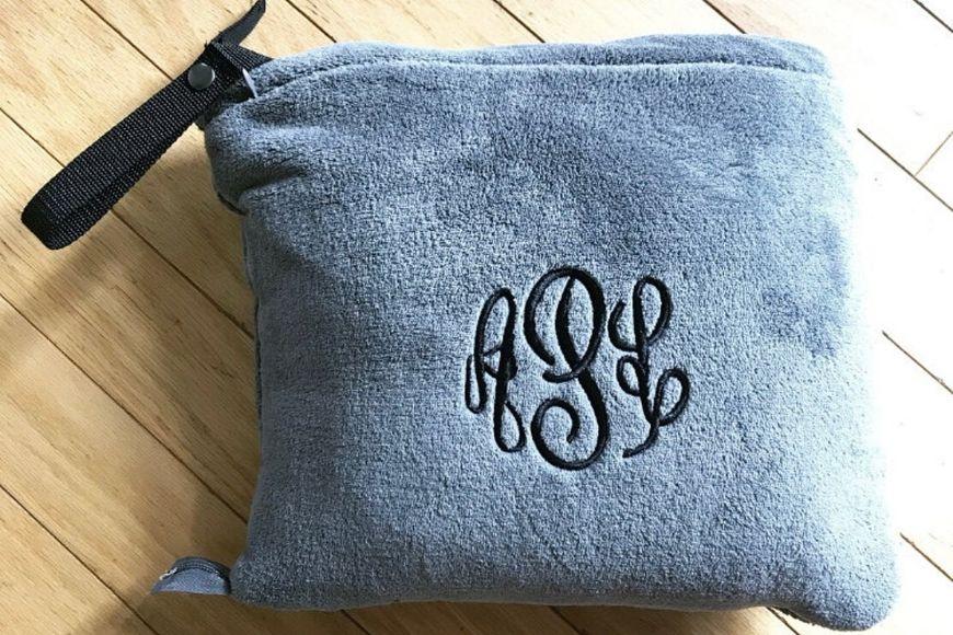 Etsy Personalized Travel Blanket.