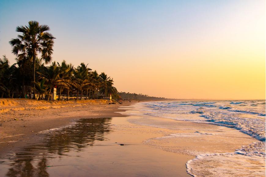beach in Serrekunda, Gambia.