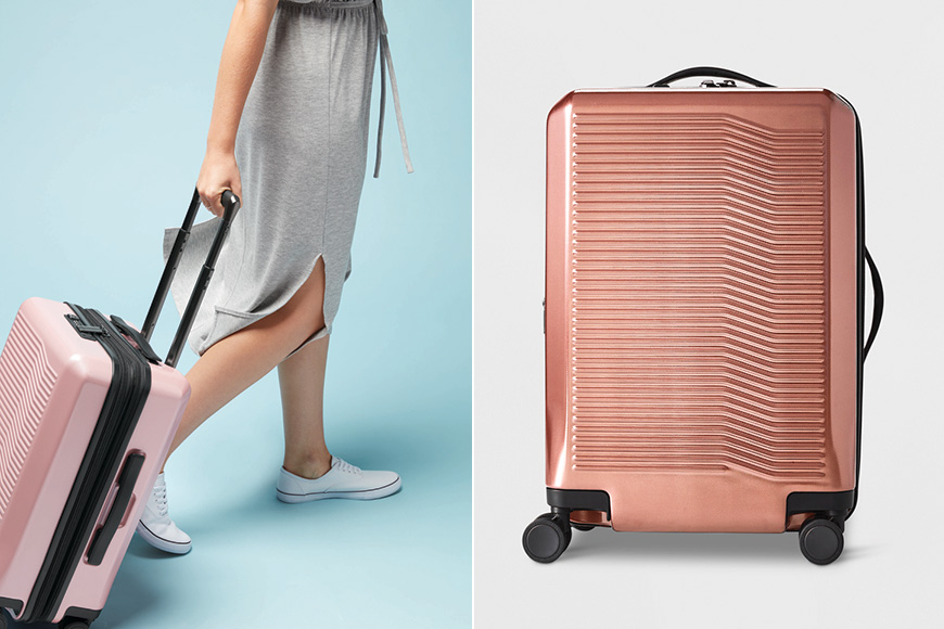 target premium collection carry-on suitcase hardside