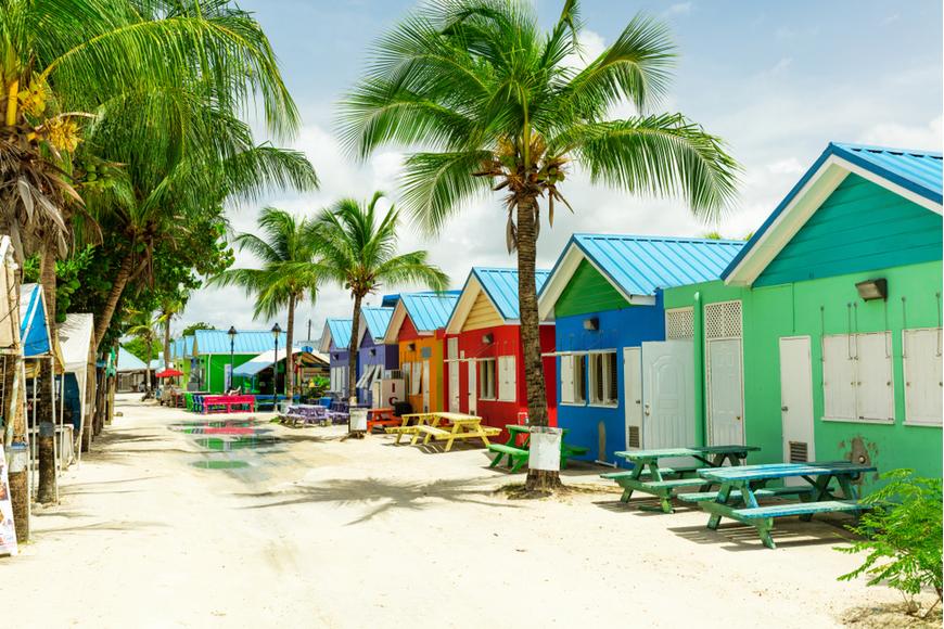 colorful homes barbados caribbean