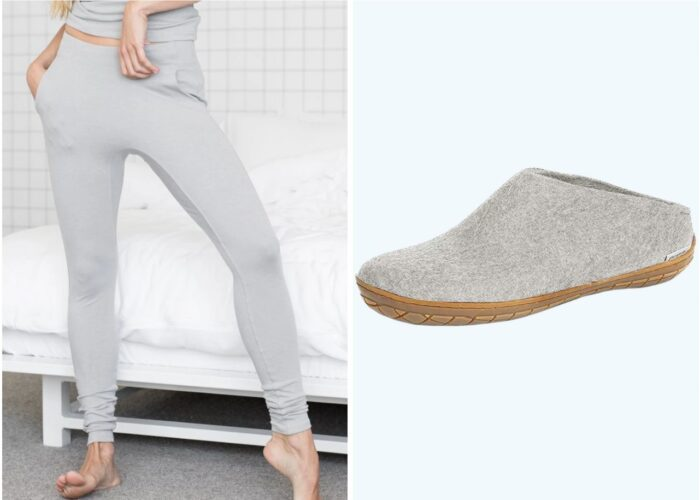 Vacuum, leggings, slippers, coffee mug product stills
