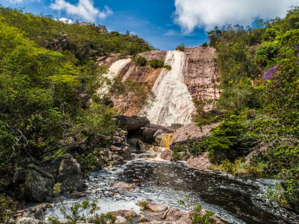 Conceicao dos Gatos Waterfall Chapada Diamantina Bahia Brazil
