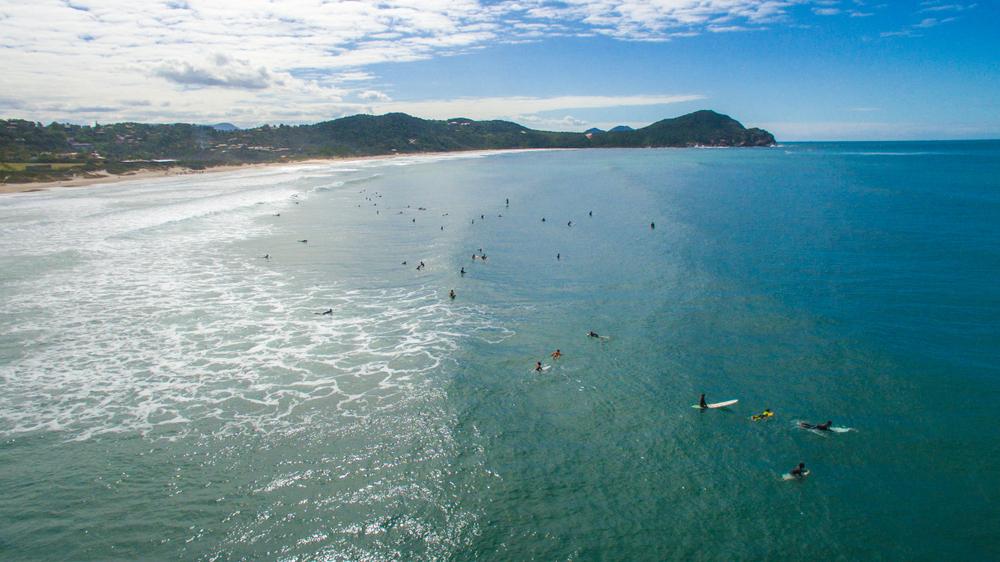 beach of Rosa - Garopaba - Santa Catarina - Brazil - Drone Aerial Photo