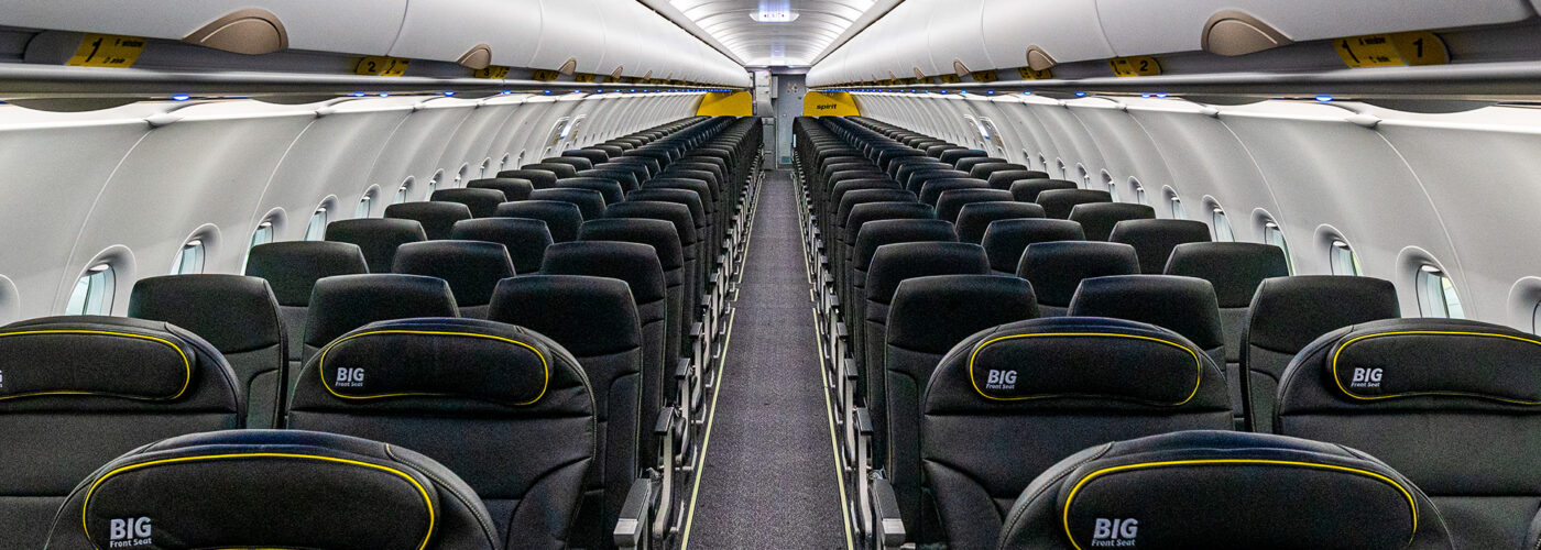 Big Front seats on Spirit Airlines