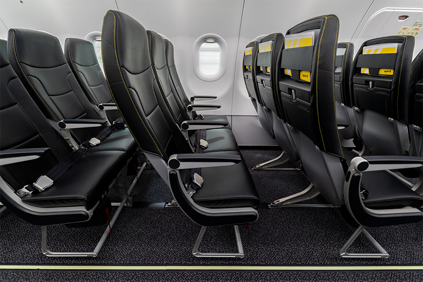 Legroom on Spirit flights is a mere 28 inches of seat pitch