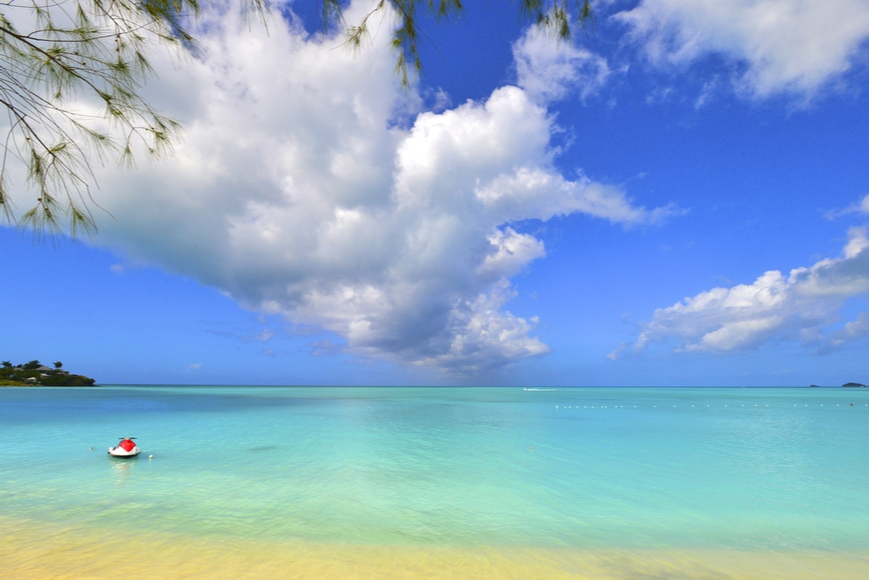 st. vincent beach caribbean.