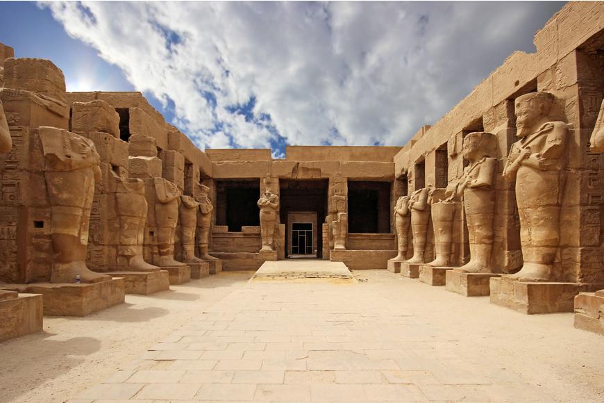 temple of karnak cairo egypt.