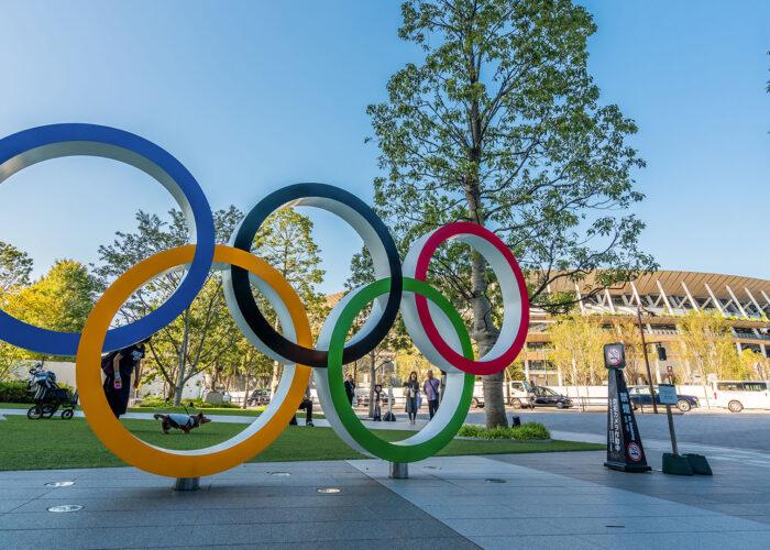 olympic rings tokyo.