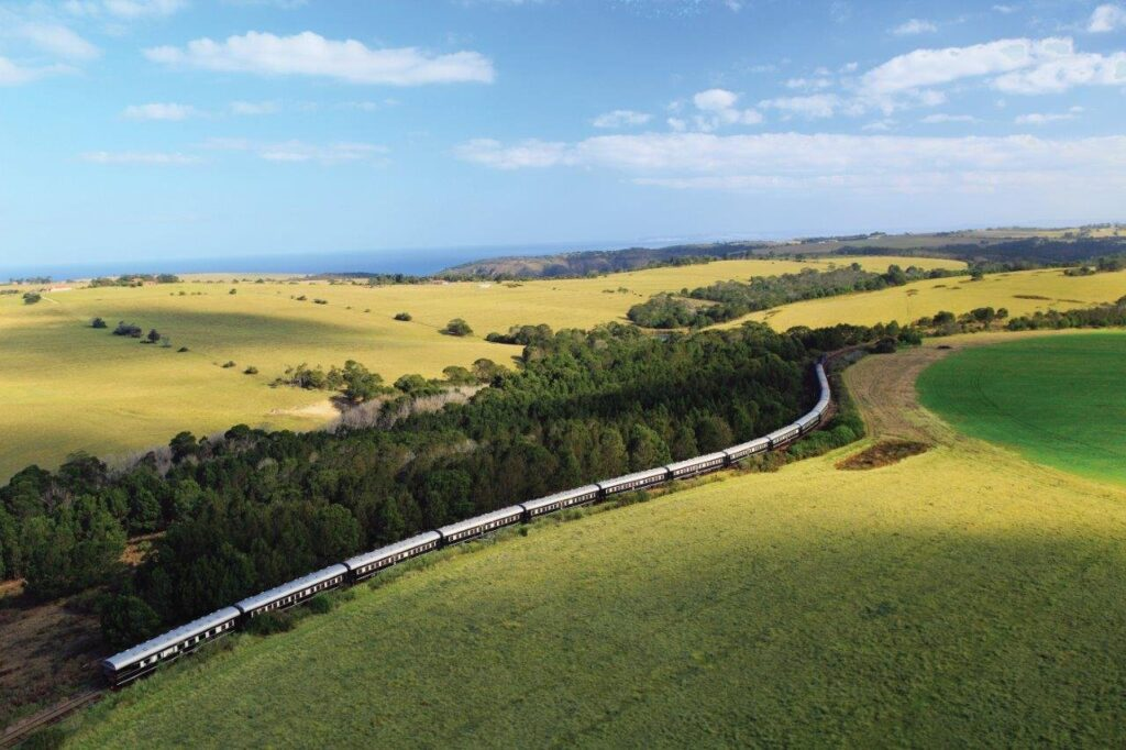 train on journey in south africa