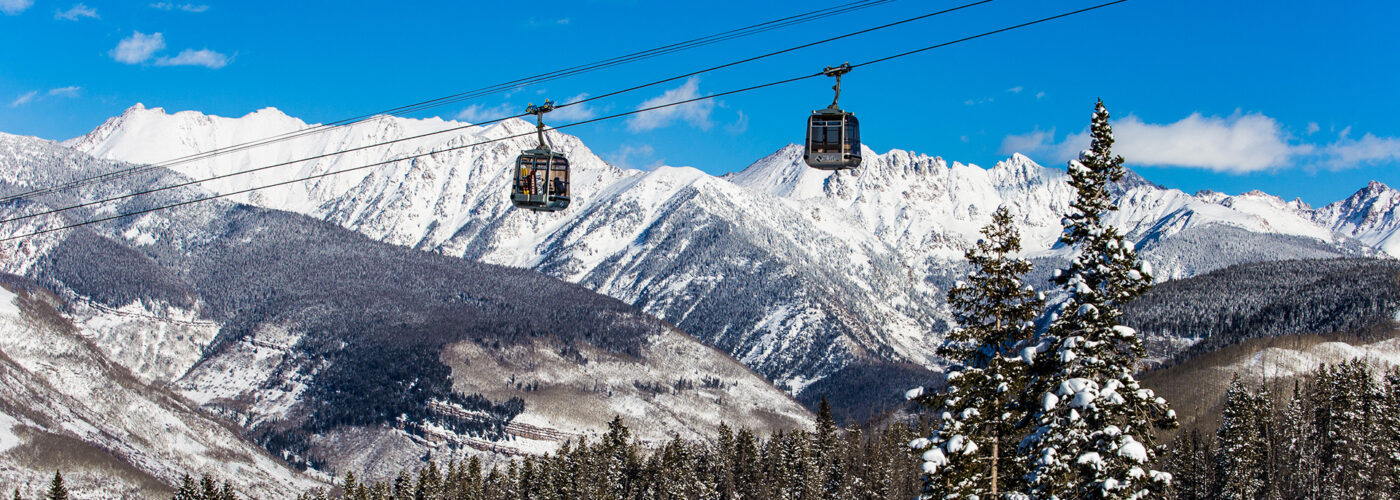 The Eagle Bahn Gondola in Vail, Colorado, USA