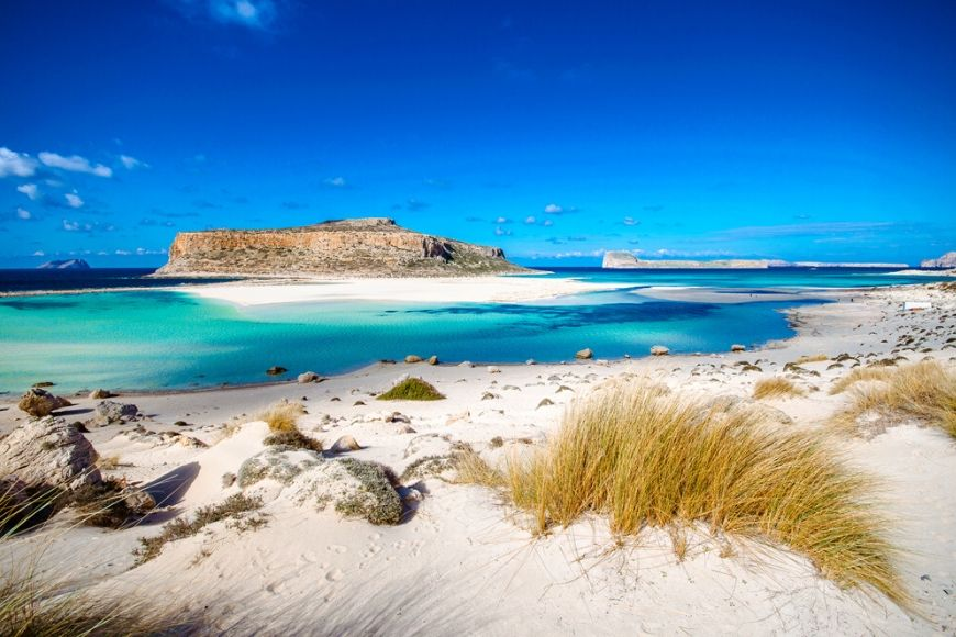 balos lagoon panorama greece.
