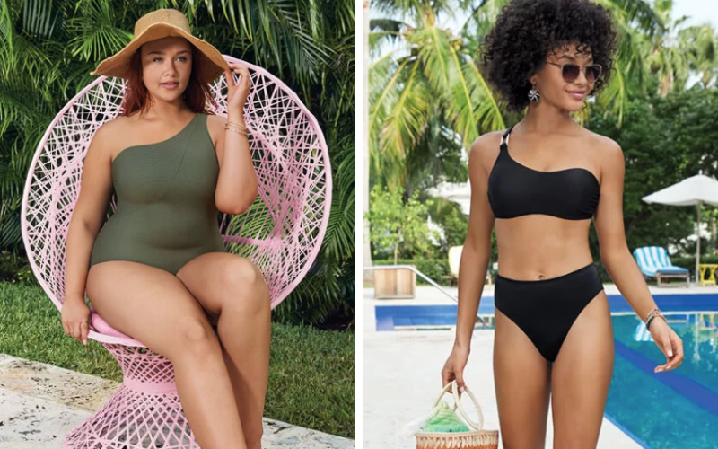 two female bathing suit styles