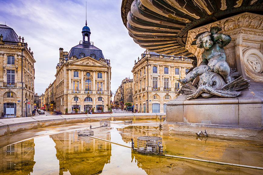 Place de la Bourse is one of the most visited sights in the city of Bordeaux, France. It was built from 1730 to 1775.  L By