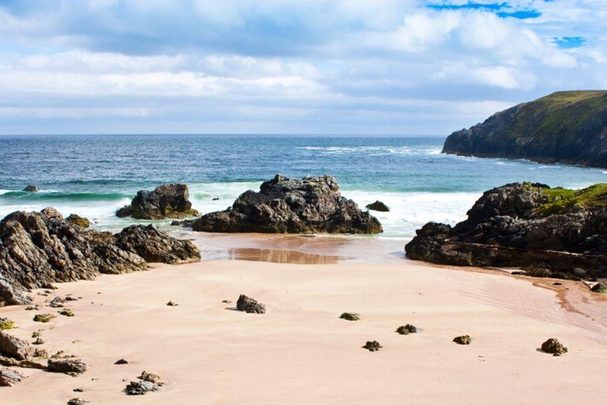 durness beach sutherland scotland.