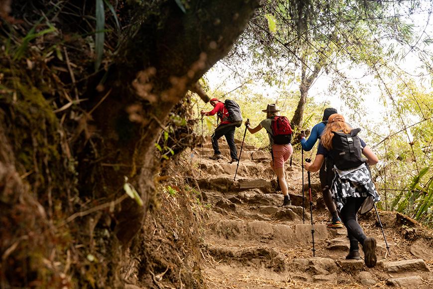 Hikers on Choquequirao trek in Peru