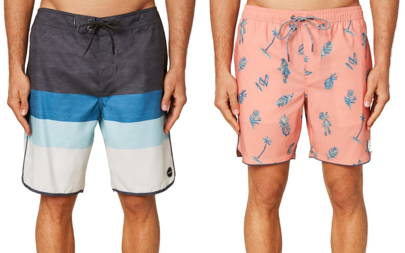 two mens bathing suit styles
