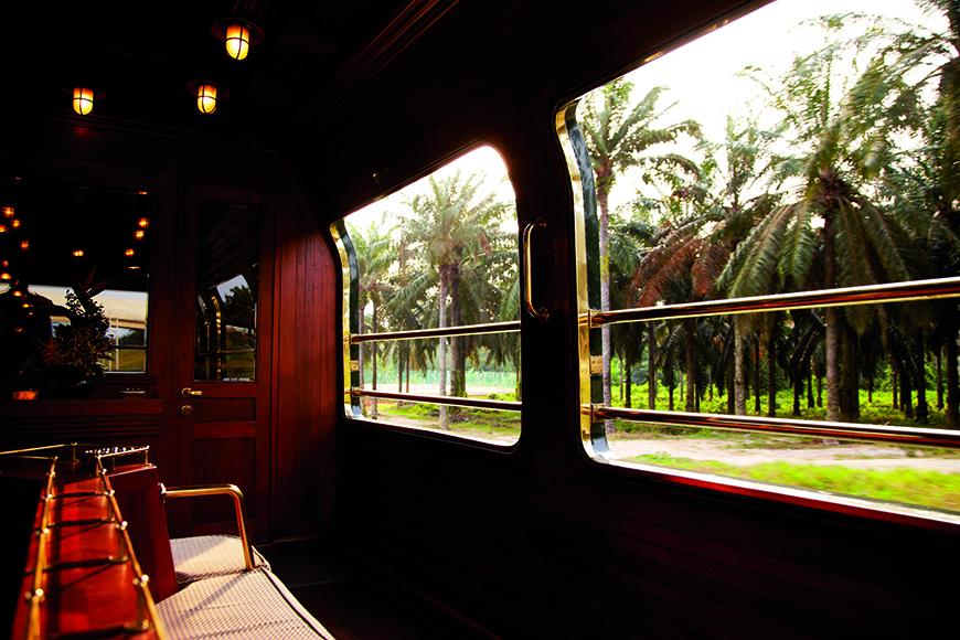 Oriental Express Belmond luxury train.