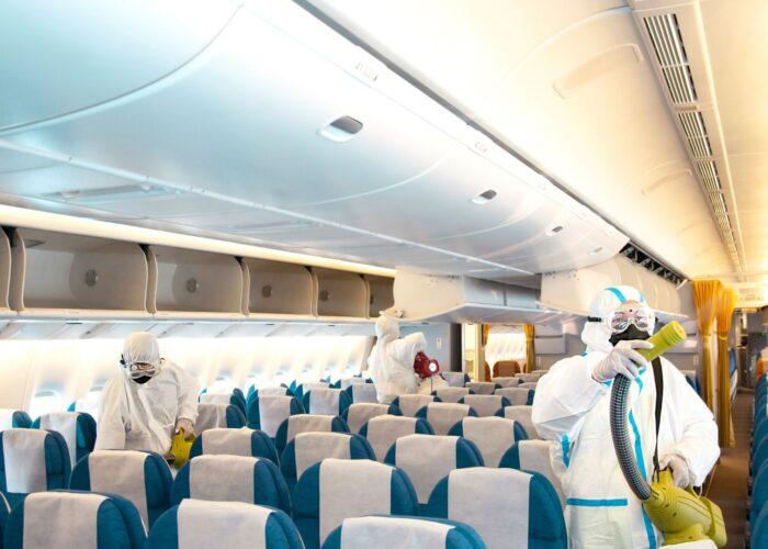 Sanitizing Plane COVID-19